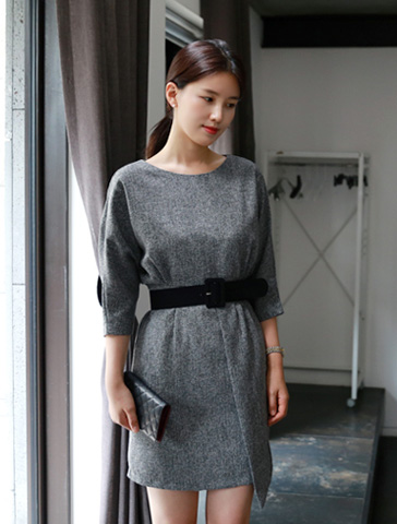 Fall dress (2color) 벨트세트